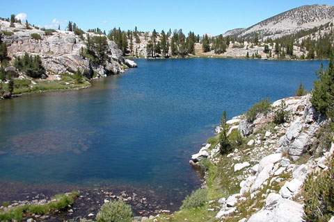 photo of Sandpiper Lake, John Muir Wilderness, CA