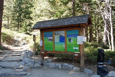 Eagle Falls information kiosk, Emerald Bay, CA