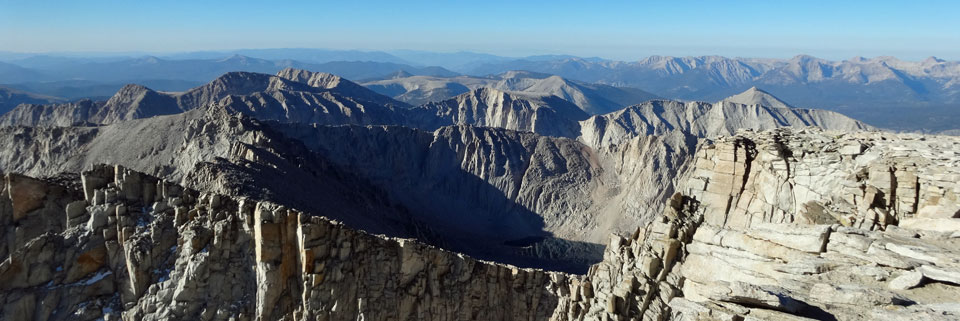 Sierra Nevada from Mt. Whitney, Sequoia National Park, CA