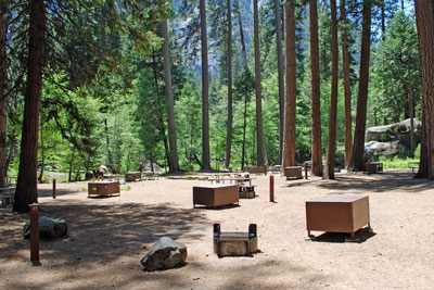 backpackers' camp, Yosemite Valley, Yosemite National Park,  CA