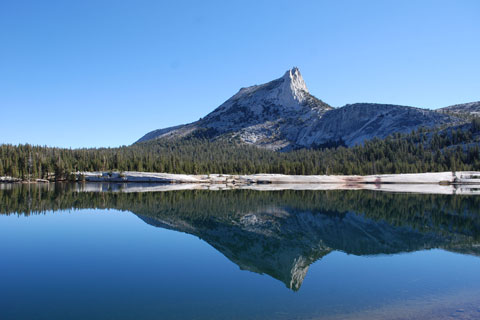 photo of Cathedral Lakes and Cathedral Peak, Yosemite National Park, CA