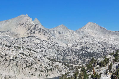 Mt. Cotter and Mt. Clarence King,  Kings Canyon National Park, CA