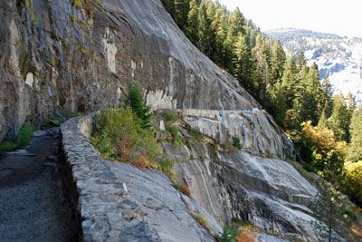 John Muir Trail leading down from Nevada Fall, Yosemite National Park, CA