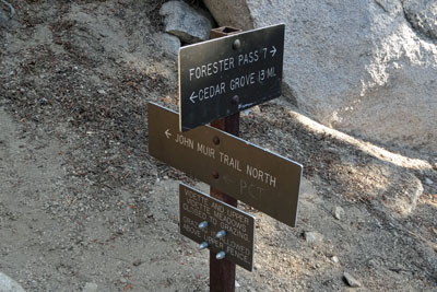 Sign at Vidette Meadow, Kings Canyon National Park, CA